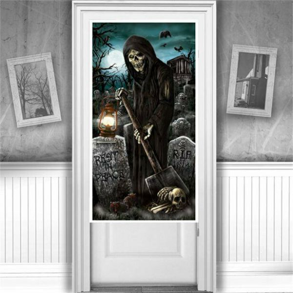 Halloween Cemetery Door Decoration - 1.7m